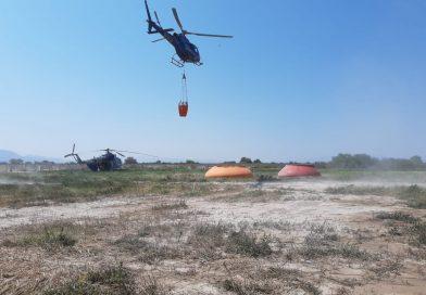 CONTINÚAN ACCIONES DE COMBATE DEL INCENDIO EN EL MILAGRO, GUADALCÁZAR